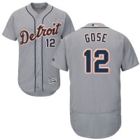 Detroit Tigers #12 Anthony Gose Grey Flexbase Authentic Collection Stitched MLB Jersey