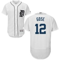 Detroit Tigers #12 Anthony Gose White Flexbase Authentic Collection Stitched MLB Jersey