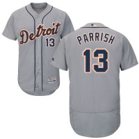 Detroit Tigers #13 Lance Parrish Grey Flexbase Authentic Collection Stitched MLB Jersey