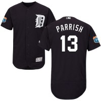 Detroit Tigers #13 Lance Parrish Navy Blue Flexbase Authentic Collection Stitched MLB Jersey
