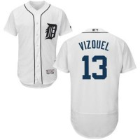 Detroit Tigers #13 Omar Vizquel White Flexbase Authentic Collection Stitched MLB Jersey