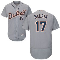 Detroit Tigers #17 Denny McLain Grey Flexbase Authentic Collection Stitched MLB Jersey