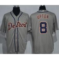 Detroit Tigers #8 Justin Upton Grey New Cool Base Stitched MLB Jersey