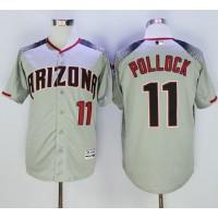Diamondbacks #11 A. J. Pollock Gray Brick Cool Base Stitched Baseball Jersey