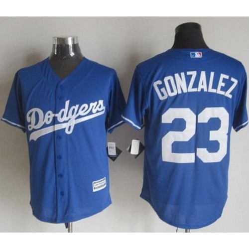 8c66c5dd5 Dodgers  23 Adrian Gonzalez Blue New Cool Base Stitched Baseball Jersey