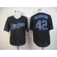 Dodgers #42 Jackie Robinson Black Fashion Stitched Baseball Jersey