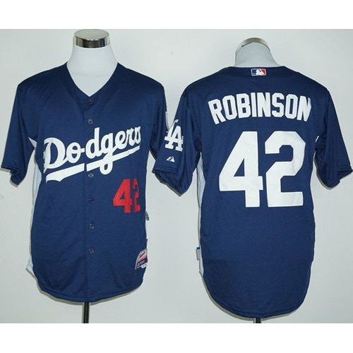 Dodgers  42 Jackie Robinson Navy Blue Cooperstown Stitched Baseball Jersey 4ea75fef52b