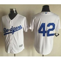 Dodgers #42 Jackie Robinson White New Cool Base Stitched Baseball Jersey