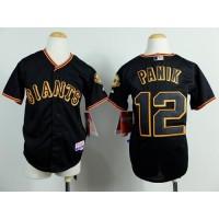 Giants #12 Joe Panik Black Cool Base Stitched Youth Baseball Jersey