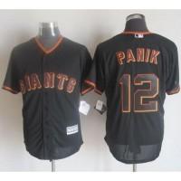 Giants #12 Joe Panik Black New Cool Base Stitched Baseball Jersey