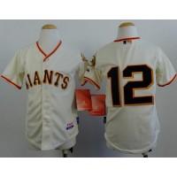 Giants #12 Joe Panik Cream Cool Base Stitched Youth Baseball Jersey