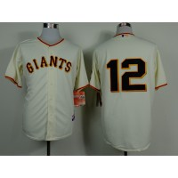 Giants #12 Joe Panik Cream Home Cool Base Stitched Baseball Jersey