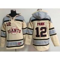 Giants #12 Joe Panik Cream Sawyer Hooded Sweatshirt Baseball Hoodie