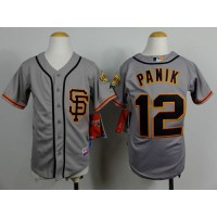 Giants #12 Joe Panik Grey Road 2 Cool Base Stitched Youth Baseball Jersey