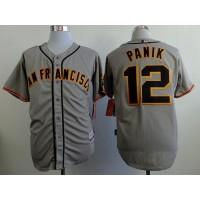 Giants #12 Joe Panik Grey Road Cool Base Stitched Baseball Jersey