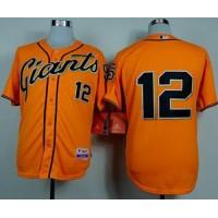 Giants #12 Joe Panik Orange Alternate Cool Base Stitched Baseball Jersey