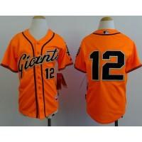 Giants #12 Joe Panik Orange Alternate Stitched Youth Baseball Jersey