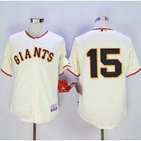 Giants #15 Bruce Bochy Cream Home Cool Base Stitched Baseball Jersey