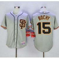 Giants #15 Bruce Bochy Grey Cool Base Road 2 Stitched Baseball Jersey