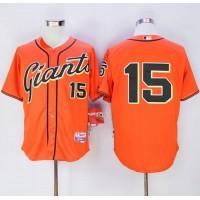 Giants #15 Bruce Bochy Orange Alternate Cool Base Stitched Baseball Jersey