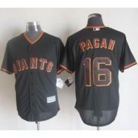 Giants #16 Angel Pagan Black New Cool Base Stitched Baseball Jersey