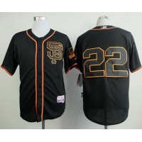 Giants #22 Jake Peavy Black Alternate Cool Base Stitched Baseball Jersey