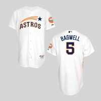 Houston Astros #5 Jeff Bagwell White Throwback Stitched Baseball Jersey