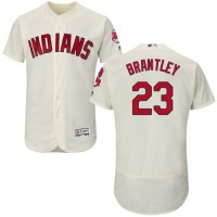 Indians #23 Michael Brantley Cream Flexbase Authentic Collection Stitched Baseball Jersey