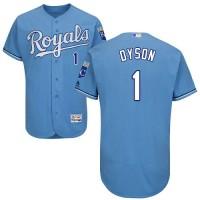 Kansas City Royals #1 Jarrod Dyson Light Blue Flexbase Authentic Collection Stitched MLB Jersey