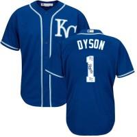 Kansas City Royals #1 Jarrod Dyson Royal Blue Team Logo Fashion Stitched MLB Jersey