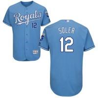 Kansas City Royals #12 Jorge Soler Light Blue Flexbase Authentic Collection Stitched MLB Jersey