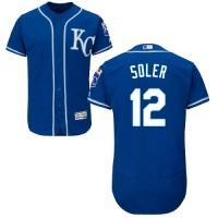 Kansas City Royals #12 Jorge Soler Royal Blue Flexbase Authentic Collection Stitched MLB Jersey