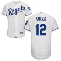 Kansas City Royals #12 Jorge Soler White Flexbase Authentic Collection Stitched MLB Jersey