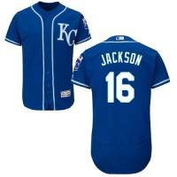 Kansas City Royals #16 Bo Jackson Royal Blue Flexbase Authentic Collection Stitched MLB Jersey