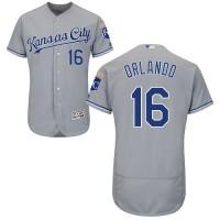 Kansas City Royals #16 Paulo Orlando Grey Flexbase Authentic Collection Stitched MLB Jersey