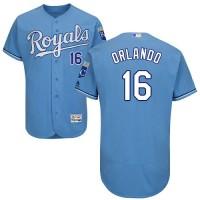 Kansas City Royals #16 Paulo Orlando Light Blue Flexbase Authentic Collection Stitched MLB Jersey