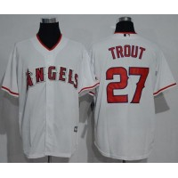 Los Angeles Angels Of Anaheim #27 Mike Trout White New Cool Base Stitched MLB Jersey