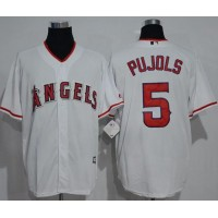 Los Angeles Angels Of Anaheim #5 Albert Pujols White New Cool Base Stitched MLB Jersey