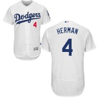 Los Angeles Dodgers #4 Babe Herman White Flexbase Authentic Collection Stitched MLB Jersey