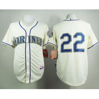 Mariners #22 Robinson Cano Cream Alternate Cool Base Stitched Baseball Jersey
