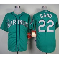 Mariners #22 Robinson Cano Green Alternate Cool Base Stitched Baseball Jersey