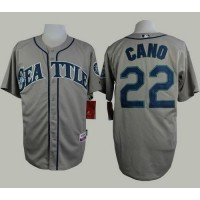 Mariners #22 Robinson Cano Grey Cool Base Stitched Baseball Jersey