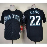 Mariners #22 Robinson Cano Navy Blue Cool Base Stitched Baseball Jersey