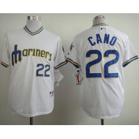 Mariners #22 Robinson Cano White 1979 Turn Back The Clock Stitched Baseball Jersey