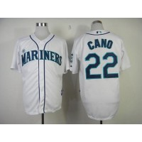 Mariners #22 Robinson Cano White Home Cool Base Stitched Baseball Jersey