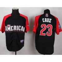Mariners #23 Nelson Cruz Black 2015 All-Star American League Stitched Baseball Jersey