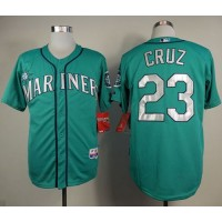 Mariners #23 Nelson Cruz Green Cool Base Stitched Baseball Jersey
