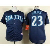 Mariners #23 Nelson Cruz Navy Blue Cool Base Stitched Baseball Jersey
