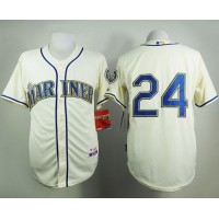 Mariners #24 Ken Griffey Cream Alternate Cool Base Stitched Baseball Jersey