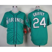 Mariners #24 Ken Griffey Green Alternate Cool Base Stitched Baseball Jersey